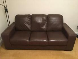 2 x brown sofas