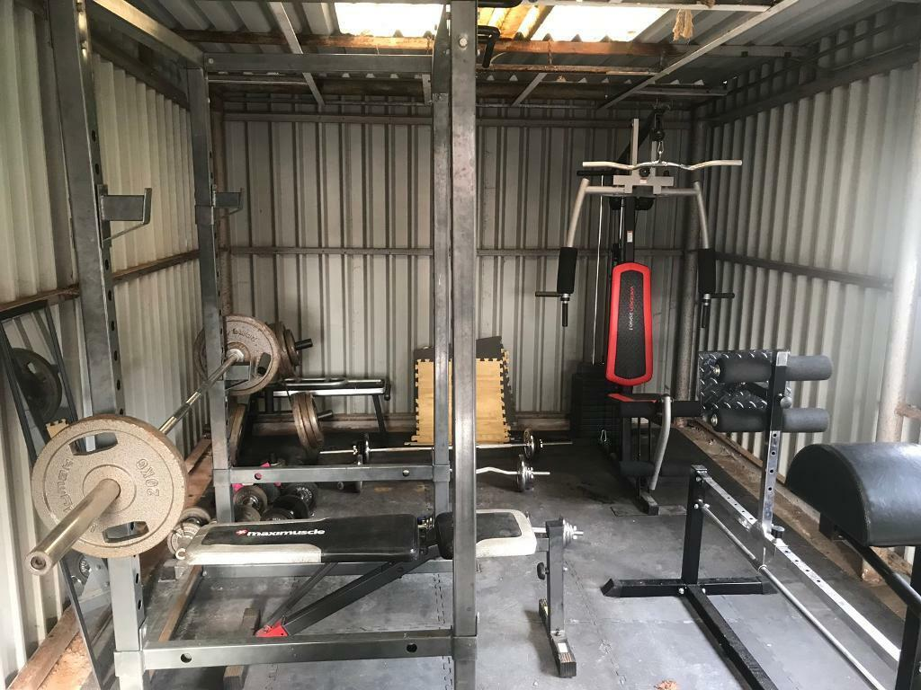 Home gym power squatrack with pulley in southside glasgow