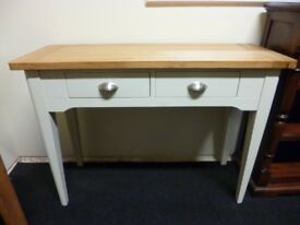 Furniture Mill Sale TOP BRAND CONSOLE/HALL TABLE WITH TWO DRAWERS IN OAK & GREY Furniture Mill Sale