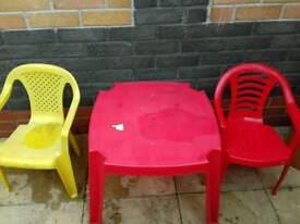 Kids garden table