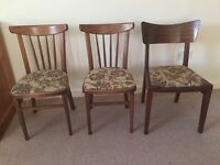 Three Wooden Chairs Ideal for Upcycling