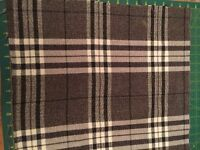 Sundour Chequers charcoal tartan remnant fabric pieces, ideal size to make cushions