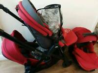 Twin push chair with carry cot / car seat