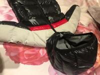 Moncler baby boy Snowsuit 9 -12 months black/red/white