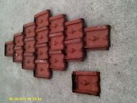 Decorative outdoor tiles, approximately 1600 of these to clear