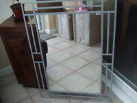 Silver Framed Wall Mounted Mirror