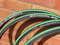 2 x NEW Schwalbe Lugano 25-622 tyres. 2 x new, Will add 2 x used FOC as well