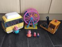 Peppa pig toys camper van etc