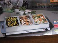 Stainless steel Hot Food Buffet server.