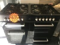 NEWWORLD 100CM DUAL FUEL RANGE STYLE COOKER IN BLACK