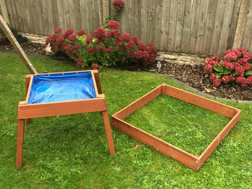Wooden Sandpit and water table