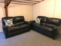 🍂 Luxurious fultons ~ 3 & 2 ~ high back full leather sofas Suite