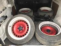 16 inch steel banded wheels