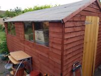 12x 8 Brand new shed, in time for Summer. USED ONLY FOR STORAGE IN A HOUSE MOVE