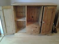 Oak sideboard with hifi space