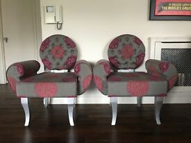 2 Beautiful fabric chairs