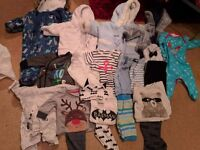 Large bundle baby boys clothes, tiny baby, newborn and up to one month