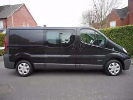 FINANCE ME!! NO VAT!! Renault Trafic 6 Seat Crew Van with only 88k from new, full service history!!