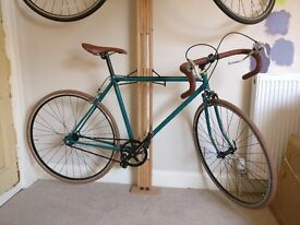 Green and Gold Single Speed Fixie Bike, Brand New Flip-Flop Wheel set, 51cm downtube, 56cm toptube