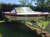 Master craft pro comp 190 speed wake boarding boat with trailer