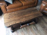 Large Solid Oak Coffee Table