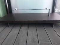 Italian designer coffee table with Glass Top missing