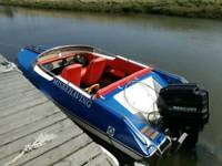 Dateline 17ft speedboat 90hp merc with trailer