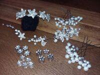 Hair Accessories - Wedding/ Bridesmaid /Formal - Diamante / Pearl - Comb/ Slides/ Head piece