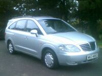 **EXCELLENT 2008 SSANGYONG RODIUS 270 S DIESEL**7 SEATER**LOW TAX**FULL MOT**KIA,VW,FORD,VAUXHALL