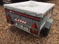 Erde 121 4x3 car trailer ideal for camping or rubbish clearance