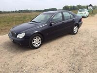 2003 MERCEDES-BENZ C CLASS 1.8 AUTO KOMPRESSOR CLASSIC SE A 4 DOOR SALOON PETROL, 1 YEARS MOT