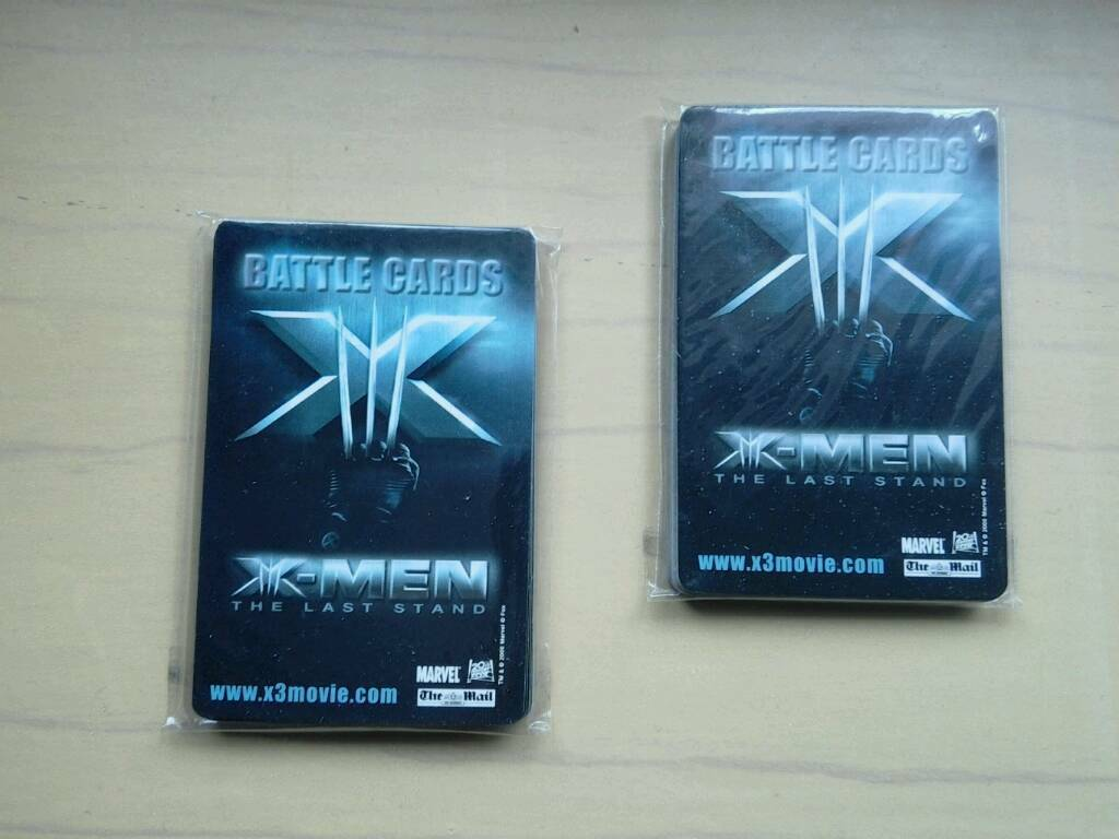 X-Men The Last Stand - Battle Cards
