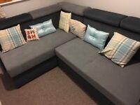 corner sofa / bed with storage