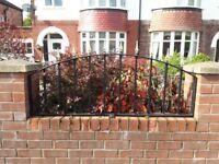 2 x Wrought Iron Decorative Wall Railings