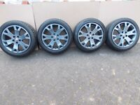 "Zafira / Astra / Vectra GSI 17"" Snowflake Alloy Wheels & Tires / Just Refurbed / Like New."