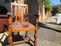 Vintage oak occasional chair