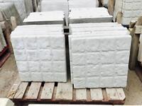 Cobble effect concrete slabs 450x450x35mm