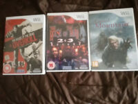 3 Wii games, Cursed Mountain, the house of the dead 2&4, the house of of the dea