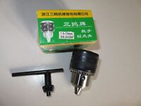 Keyed Drill Chuck 1.5-13mm female 3/8'' 24UNF hammer with key. Brand new