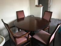 Round Table & 5 chairs