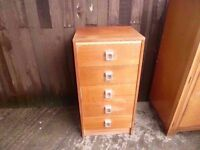 Small Bedside Draw 5 Draw Bedroom set Delivery Available