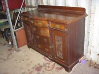 VINTAGE ORNATE SIDEBOARD. CENTRAL DRAWERS, DRAWERS & SIDE CABINETS. VIEWING/DELIVERY AVAILABLE