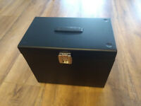 Two Metal File Storage Box with 5 Suspension Files