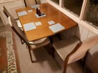 Dropleaf dining table & 4 chairs VGC, CAN DELIVER