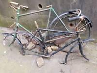 2 antique bike frames 1920s/30s