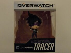 Overwatch TRACER Electric Purple Cute but Deadly Figure Blizzard Loot Gaming Exclusive unopened