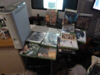 Microsoft Xbox 360 Console Bundle ☆10 GAMES☆1 CONTROLLER☆LEADS☆PSU☆