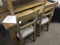 Ex Display Dining Set ASPEN Extending Table & 4 Chairs