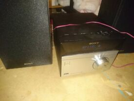 Sony hi fi system very loud also plays cd and radio