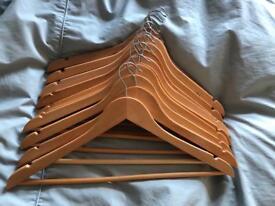 Bundle of 10 wooden coat hangers (3 bundles available)